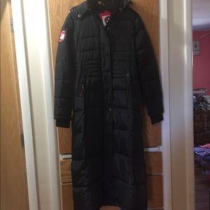 Canada Weathergear black full length down jacket!